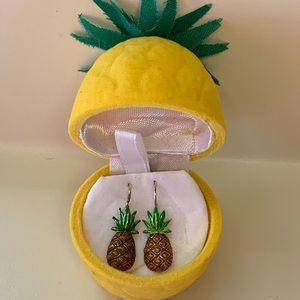 """New Pineapple Dangle Earrings in pineapple case 1"""""""
